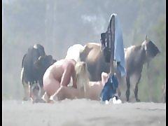 Zrele kurva na plaži