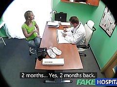 Fakehospital fantastične plavuša želi liječnici penis u nju