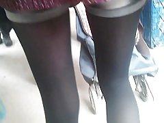 Nakon seksi djevojka s tople čarape